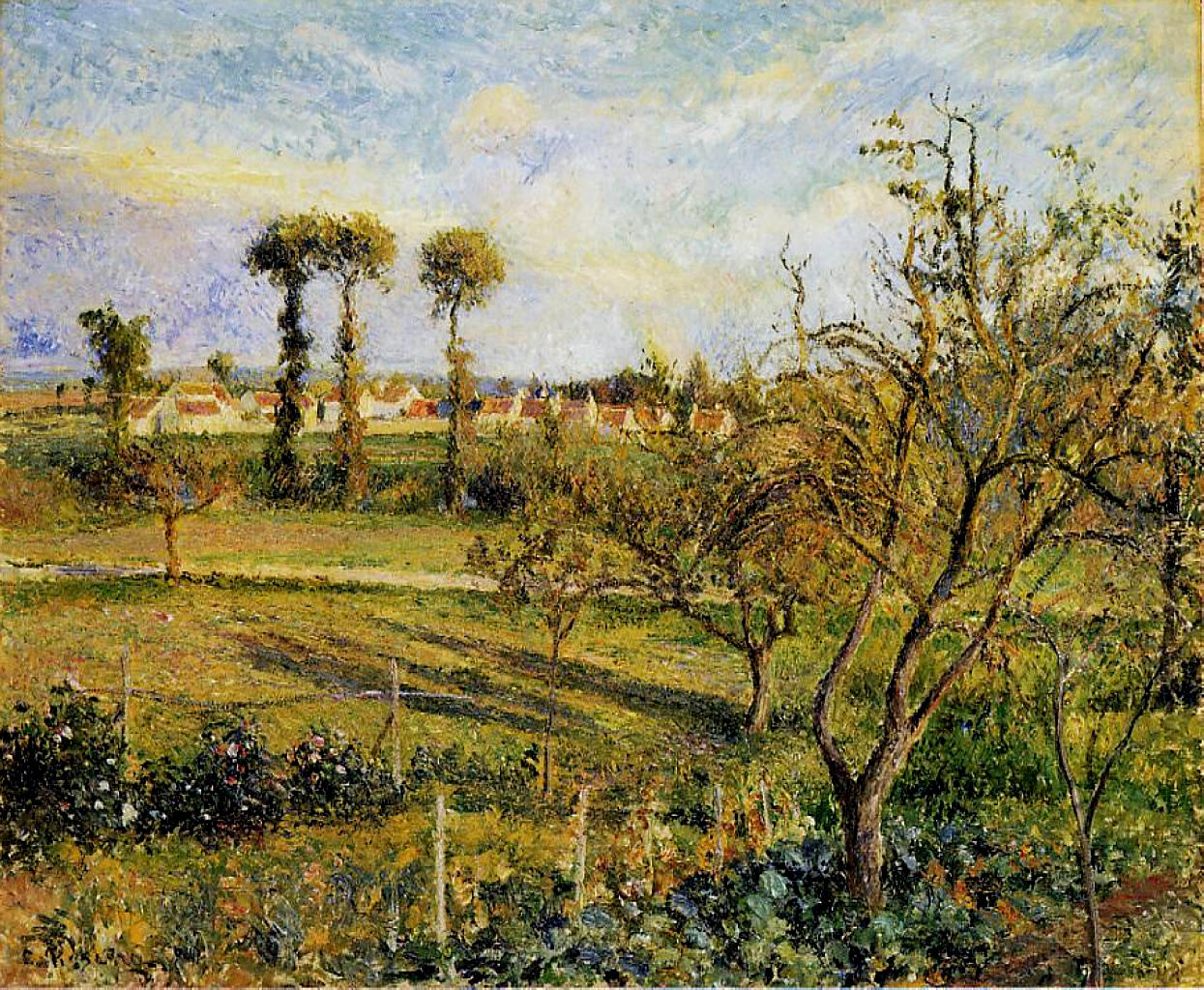 Sunset at Valhermeil, near Pontoise by Camille Pissarro, 1880