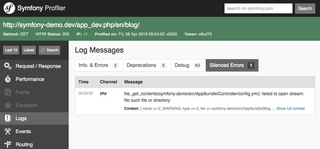 New in Symfony 3 1: Web Debug Toolbar and Profiler