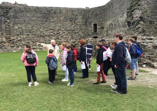 Members of Splash attending a tour of Beaumaris Castle