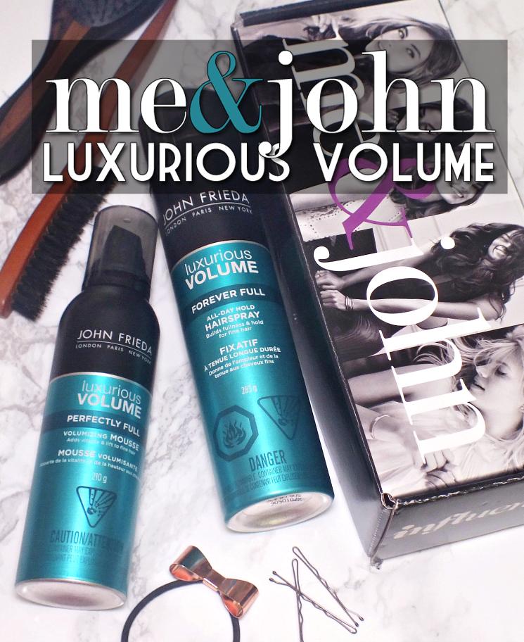 Me & John John Frieda Luxurious Volume Mousse and Hairspray (3)