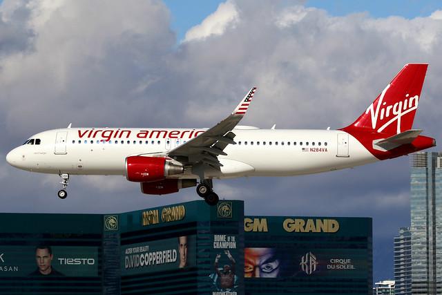 Virgin America | Airbus A320-200 | N284VA | Las Vegas McCarran