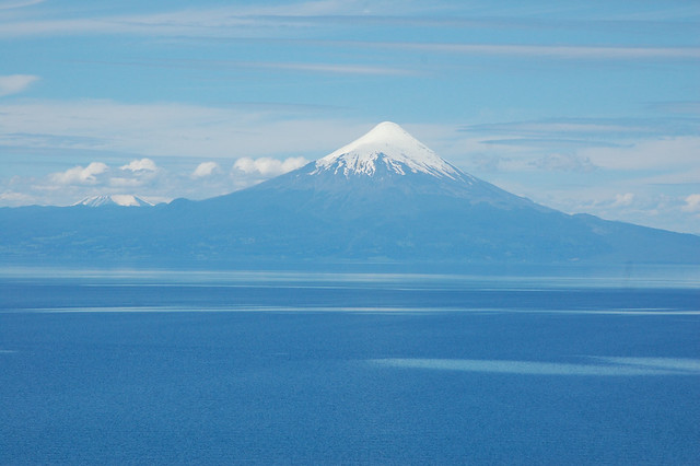 Views of Volcán Osorno over Lago Llanquihue, Los Lagos, Chile