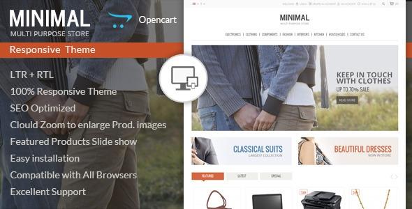 Minimal Multi Purpose – Responsive Opencart Theme