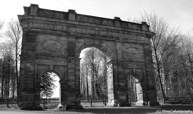 The Triumphal arch, Parlington woods, Aberford, Leeds.