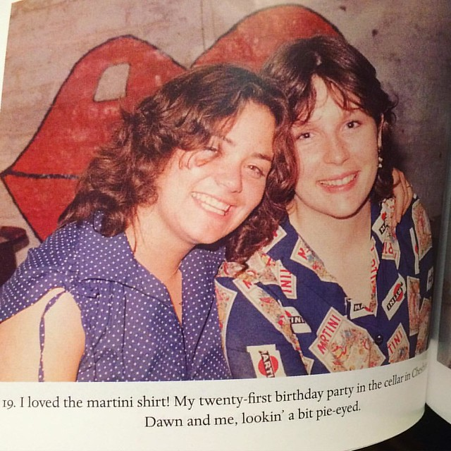 "Awww baby French and Saunders! Aren't they cute?! From Jennifer's memoir ""Bonkers""."