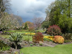 Bridgnorth Castle Gardens, first signs of impending doom (rainapocolypse)