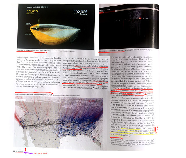 article about Data Drift in Artforum p2