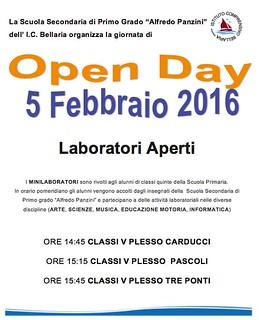 """a.s. 2015 2016 OpenDay Scuola media """"A. Panzini"""" 5 febbraio 2016"""