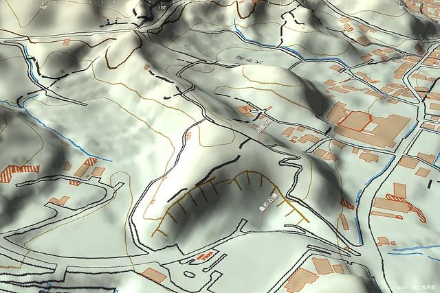 亀形石槽と酒船石3D