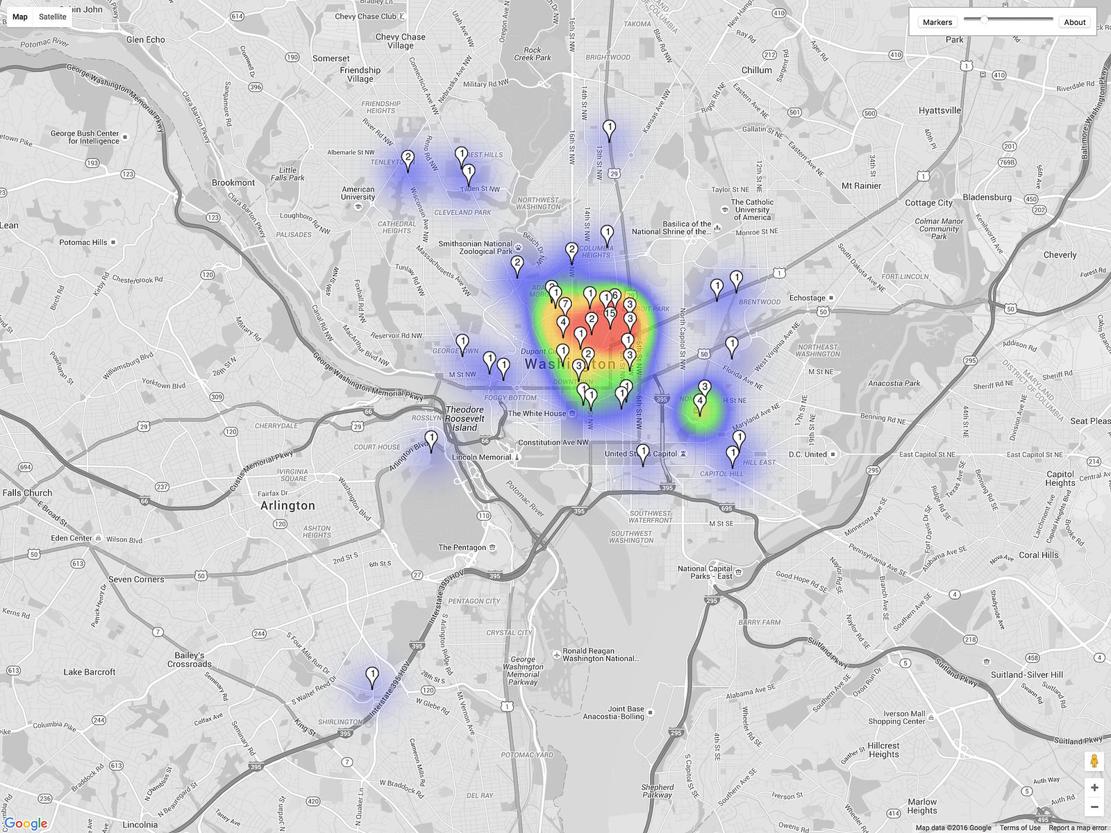 CaBi Heat Map
