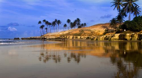 sunset pordosol praia beach ceará reflexo lagoinha