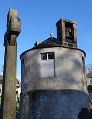 Banchory-Ternan graveyard watchtower at graveyard