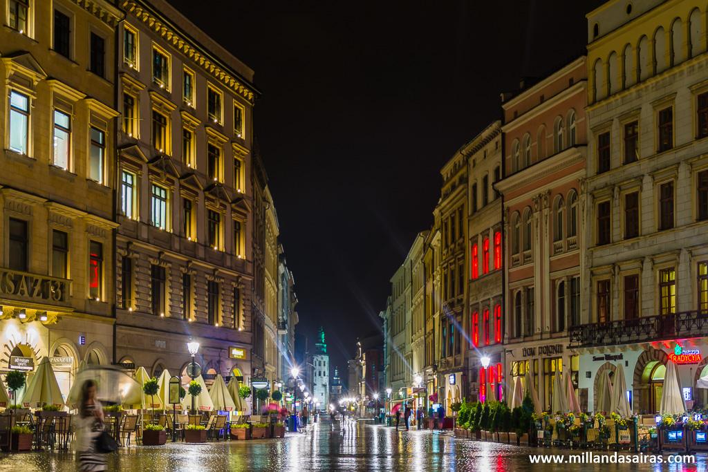 Calle Grodzka de noche