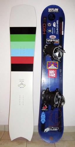 srovnání tvaru sběžným snowboardem Palmer stejné délky