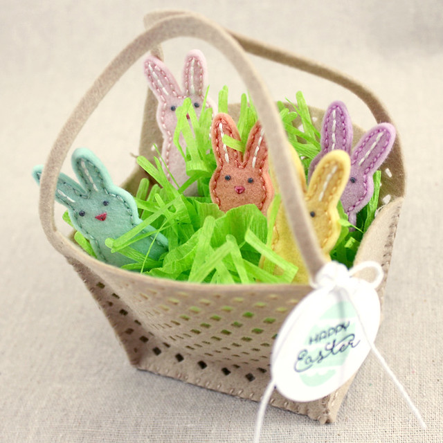 Bunny Basket Top View