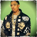 Nick Cannon on the set of Wild & out wearing a Limited Edition custom leather jacket @nickcannon