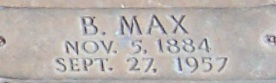 B. Max Mehl grave marker dates