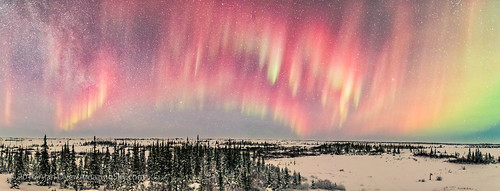 Red Aurora Panorama #1 (Feb 12, 2016)