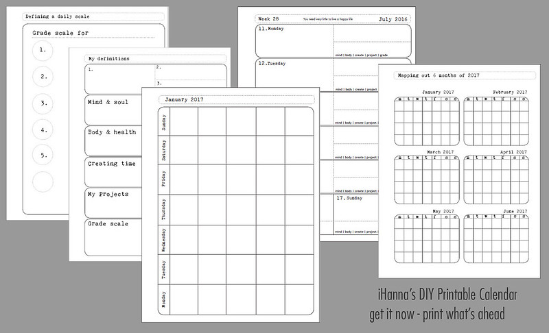 Diy Calendar Planner Template : Undated printable calendar for a whole year print today