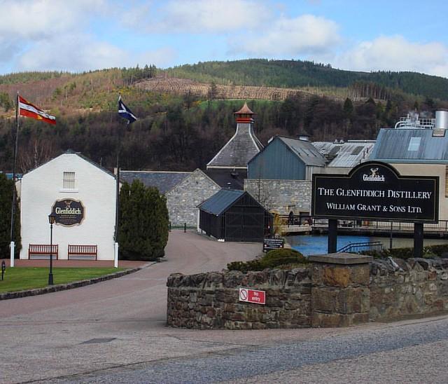 #unitedkingdom #scotland #dufftown #glenfiddich #glenfiddichdistillery #distillery #whisky  #scotchwhisky #scotch #singolmalt #2008 #april #spring #springtime #holiday #holidays #sky #clouds