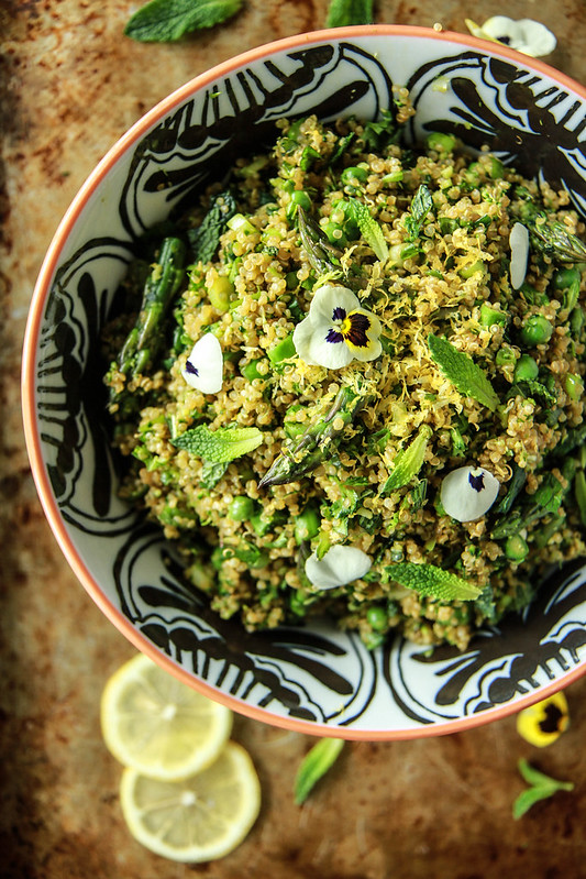 Verde Quinoa Salad from HeatherChristo.com