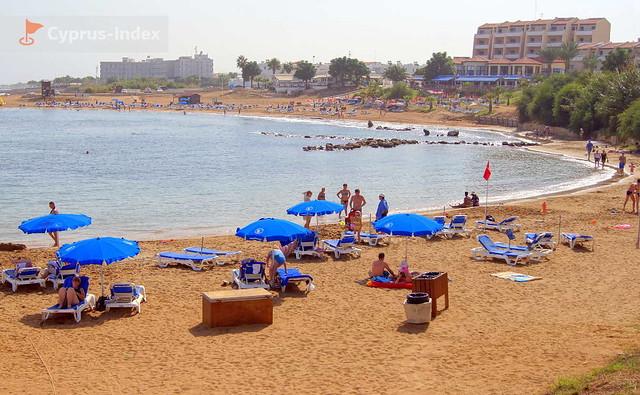 Пляж Голден Кост. Коллекция Кипр Фото Пляжей в районе города Протарас