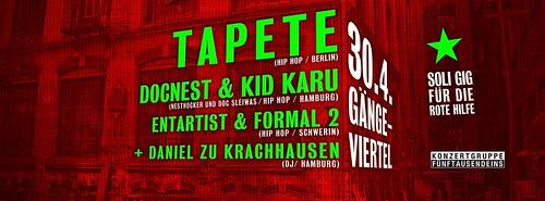30.04.2016 TAPETE LIVE in HAMBURG (Gängeviertel)