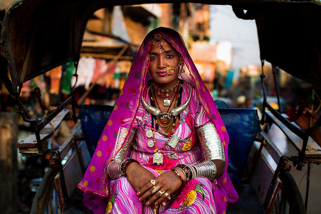 Portrait de femme, Jodphur India Photo: Mihaela Noroc