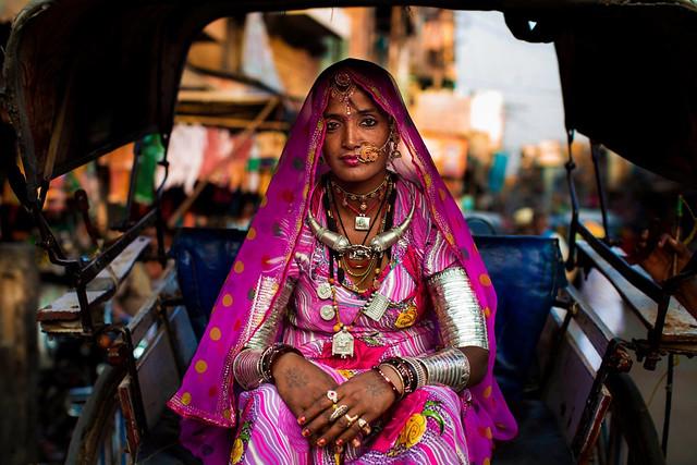 Portrait de femme, Jodphur India Photo: Mihaela Noroc