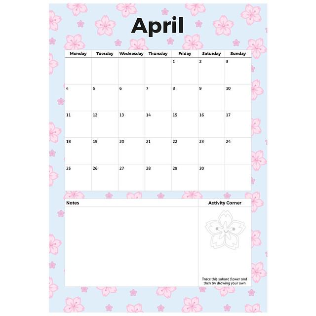 April printable planner