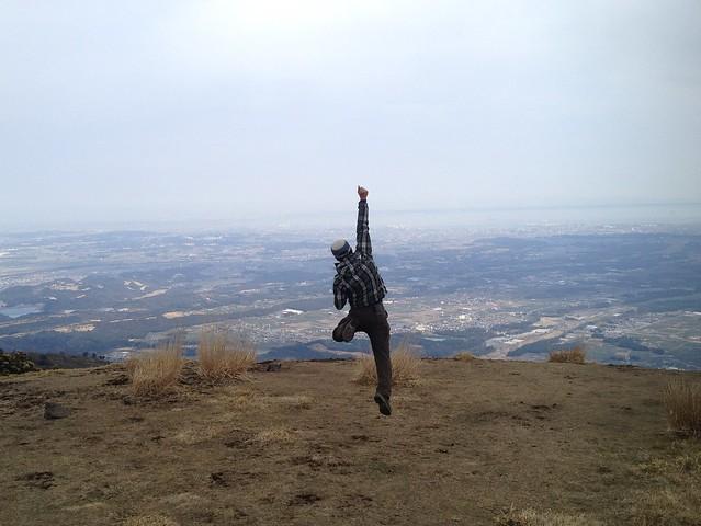 入道ヶ岳 山頂 いち ジャンプ