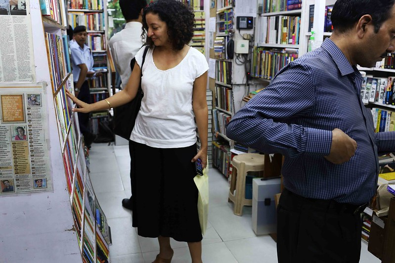 Photo Essay - Chasing a Beautiful Woman, Khan Market Bookstores
