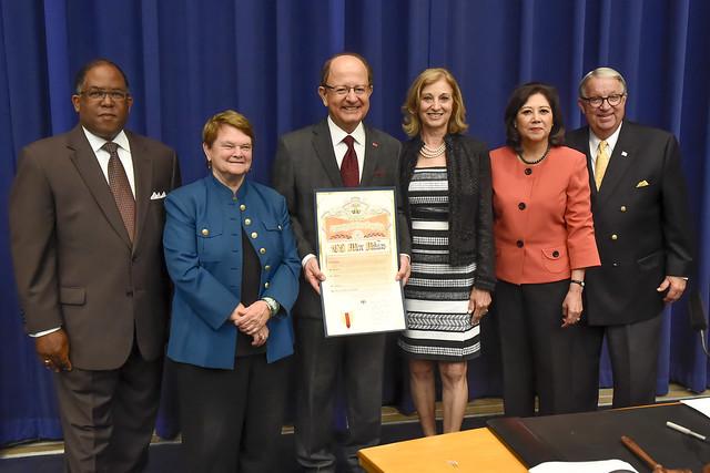 LA County Board of Supervisors Honors USC President C. L. Max Nikias