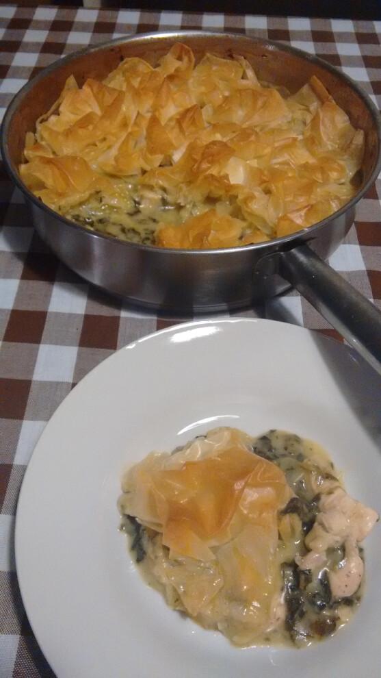 Tarta de spanakopita