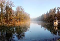 Neuer See bei Stuttgart im ersten Sonnenlicht