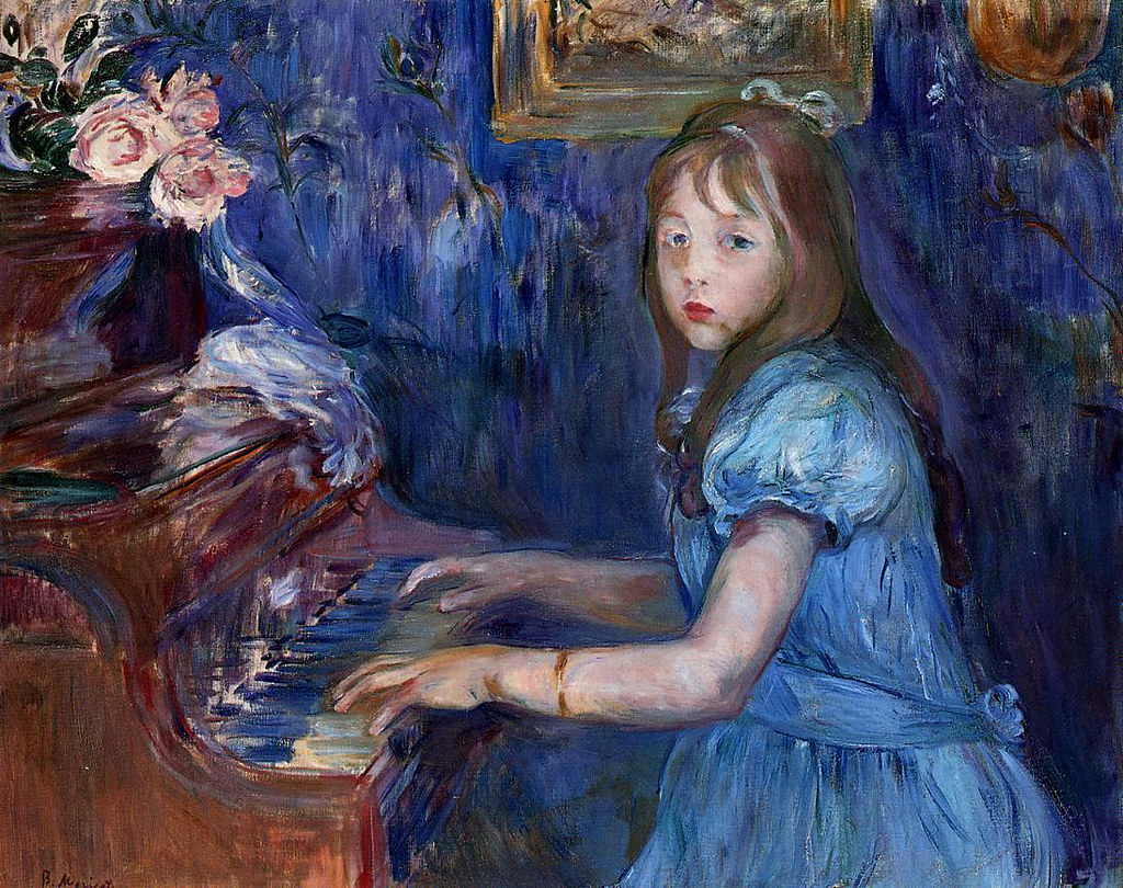 Lucie Leon at the Piano by Berthe Morisot, 1892