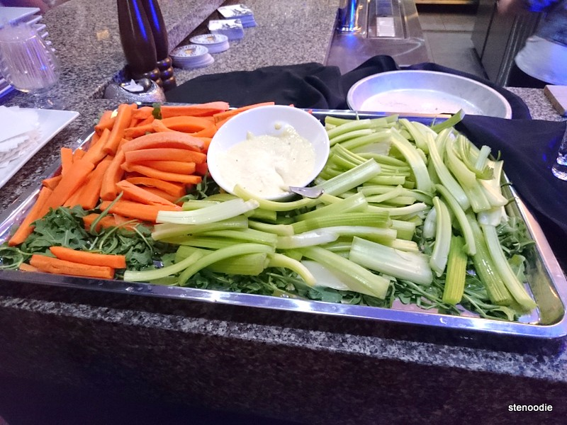 Celery and carrots with dip