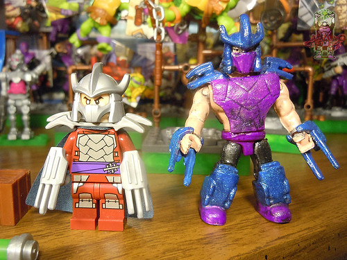 tOkKUSTOM :: 88 SHREDDER - MEGA BLOKS Mini vi / ..with Nick LEGO SHREDDER '13 mini fig