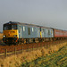 73966 and 73967 head south near Easthaven whilst working 5Z73 Aberdeen Clayhills to Bo'ness SRPS empty stock by Tayrail
