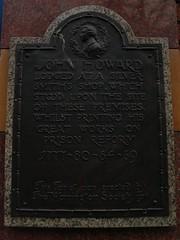 Photo of John Howard bronze plaque