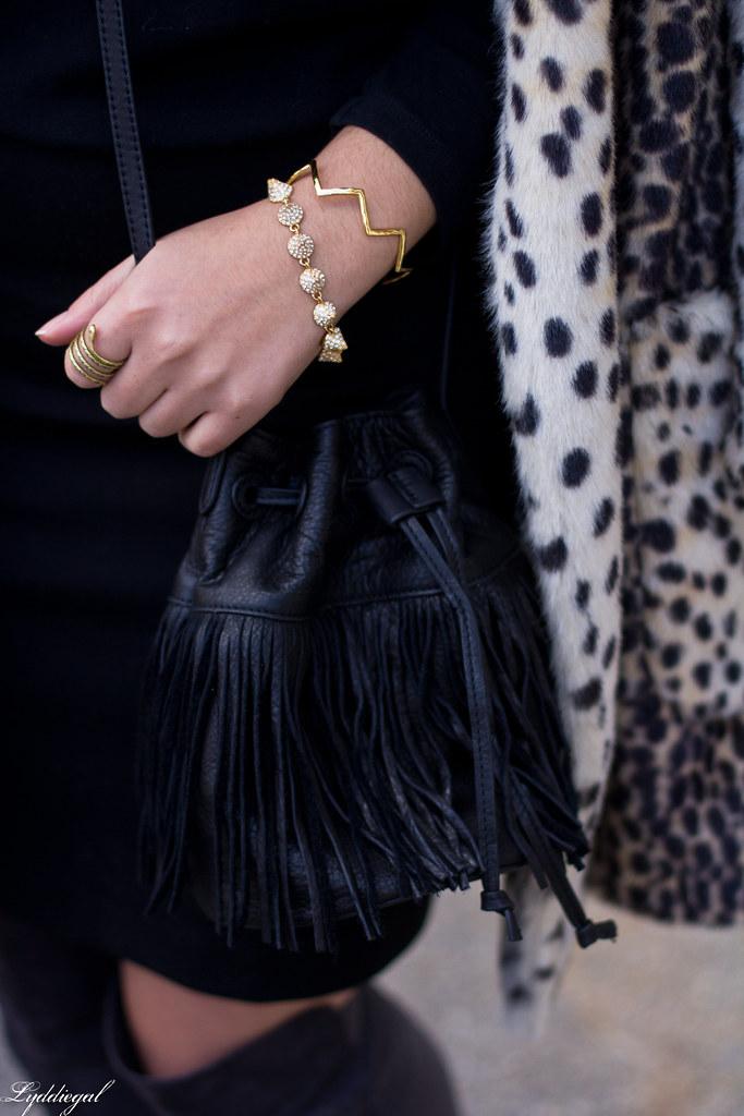 Black skirt, black top, leopard fur coat, over the knee boots-5.jpg