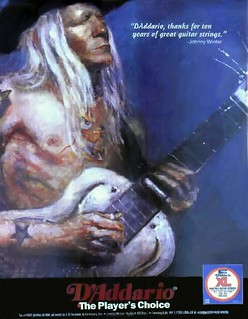 Johnny Winter D'Addario Strings