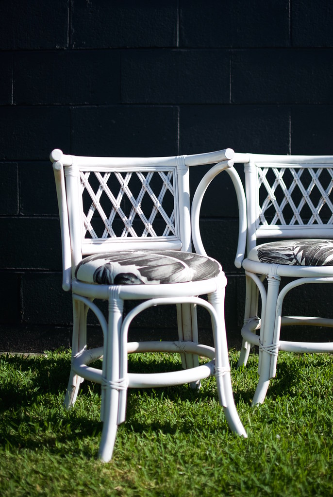before and after cane chair makleover