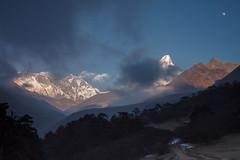 Ama Dablam from Tengboche at sunset