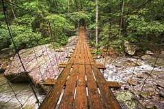 Middle Creek Bridge, Rainbow Lake Trail - Signal Mountain, Tennessee