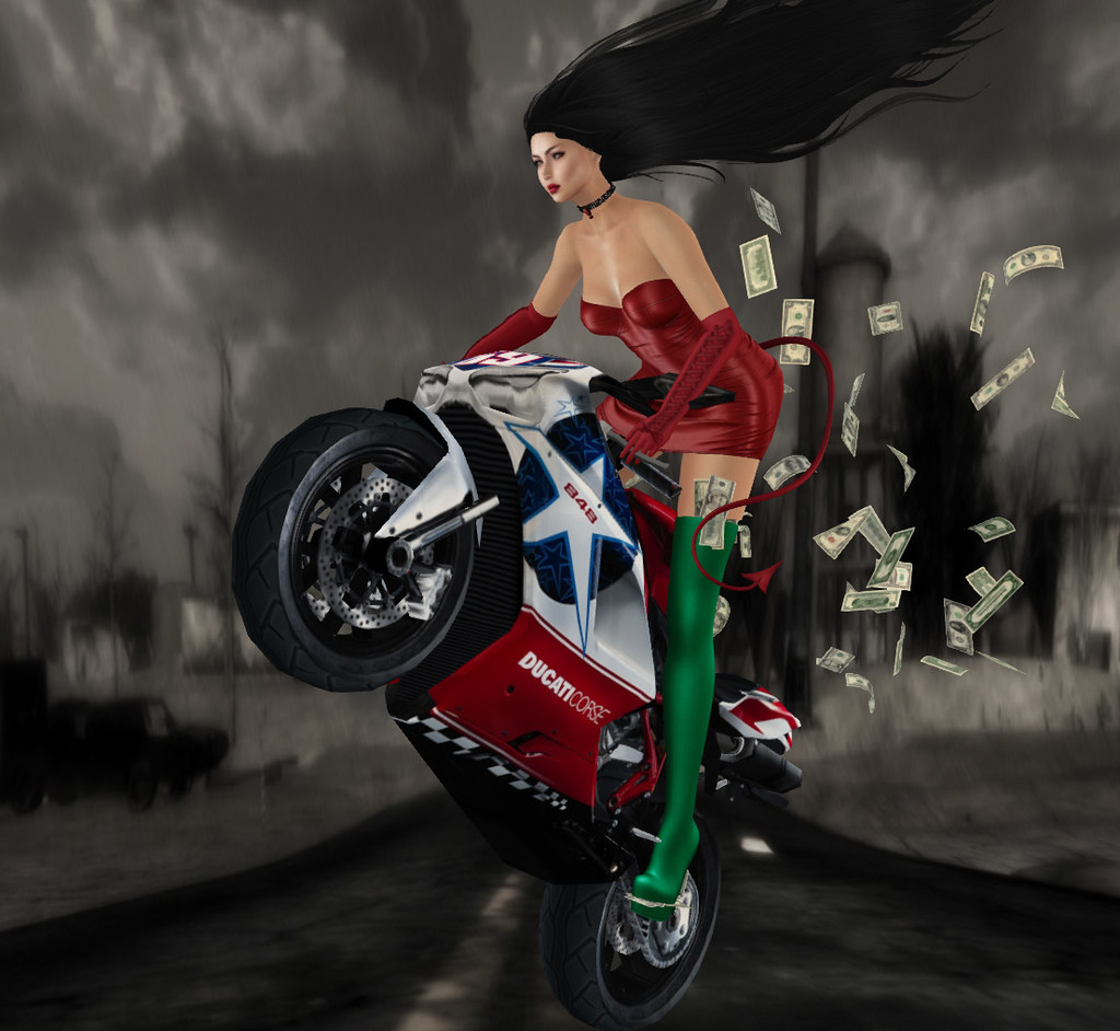 Stunt rider, Something New- props n poses