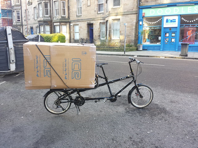 """You can't carry big loads on a bicycle"", Really?"