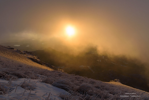 from sky sun mountain snow mountains fog clouds landscape nikon frost view russia outdoor mount caucasus d750 region slope mashuk vody beshtau mineralnye 2018g