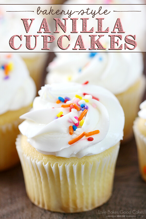 Everyone needs to have an easy and delicious Bakery-Style Vanilla Cupcakes recipe on hand! These yummy treats are perfect for birthdays, holidays, or any day! AD #HowdTheyDunkThat #IC