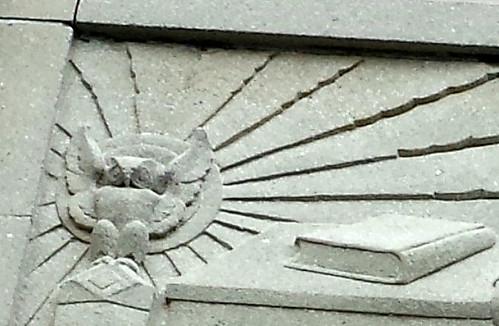 Detail of Owl from Doorway Panel